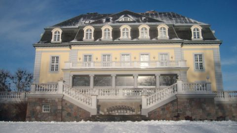 Schlosshotel Groß Plasten im Schnee
