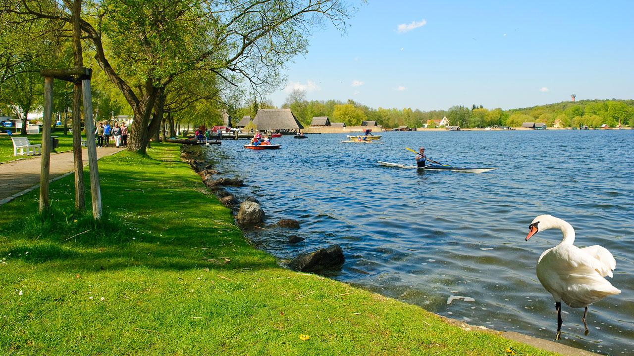 Seepromenade Krakow am See, Mecklenburgische Seenplatte