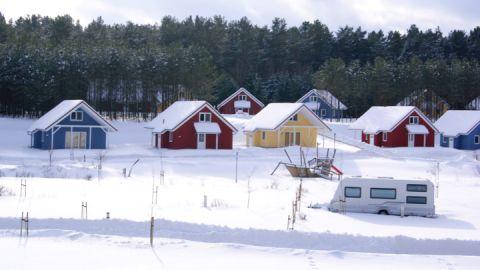 Winterurlaub: Schnee im Camping- und Ferienpark Havelberge