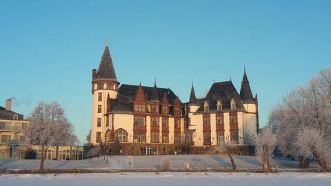 Winter am Schlosshotel Klink an der Müritz