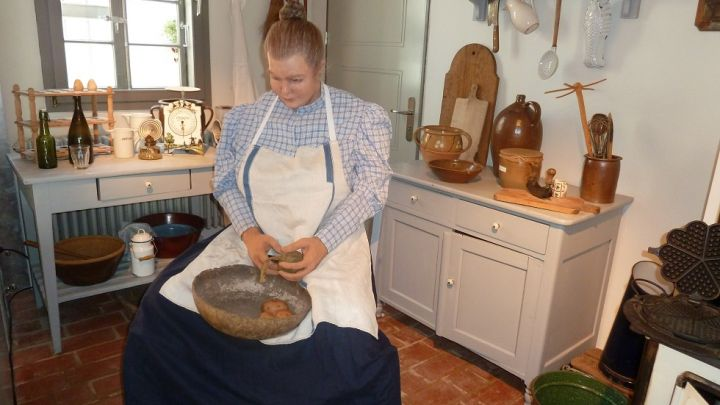 historische Küche im Stadtmuseum Teterow